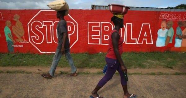 stop ebola mural