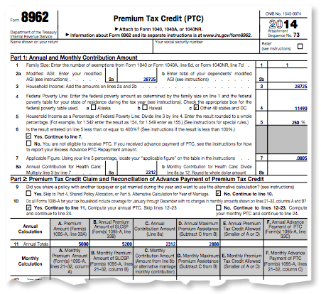 8962 form 2015 An Obamacare guide for filing your taxes