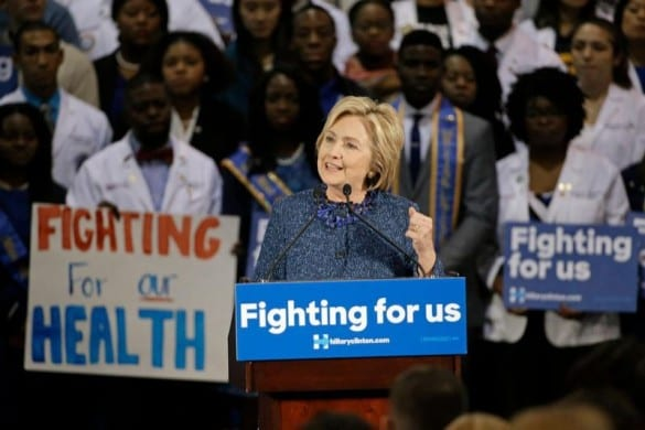 hillary clinton health rally
